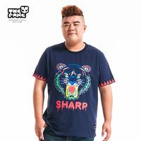 Thepang men's plus size clothing 2014 summer plus size plus size tiger short-sleeve o-neck graphic T-shirt animal patterns