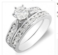 Wht Gold 14kRound Ladies Bridal Ring Engagement
