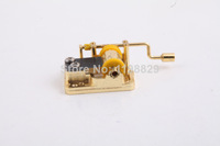D0758 Wholesale price Winding Wind Up Music Musical Box Music box movement wedding birthday Gift hand crack  1pcs