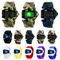 2014 High quality Rubber Silicone Waterproof Digital LCD Night Vision LED Display Men's Women Kids Boy Girl Sport Wrist Watch