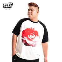 Thepang men's plus size clothing 2014 male summer top o-neck print short-sleeve t-shirt plus size plus size
