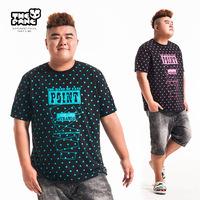 Thepang men's plus size clothing 2014 summer male loose basic shirt plus size plus size o-neck short-sleeve T-shirt polka dot