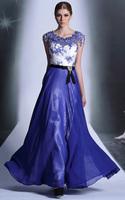 Free shipping Hot New O-Neck Sleeveless Bow Ankle-Length A-Line vestido de noiva Evening Dress