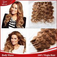 5a sunny ishow hair products brazilian body wave virgin hair bundle deals color 27# blonde brazilian hair 3/4/5pc lot 62-72g/pc