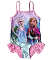 frozen swimsuit swimming suit for girls children's kids bathing suit swimsuit 2014 frozen swimwear toddler girl swimwear