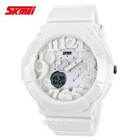 1pc/lot new arrive 50M deep water proof sports style digital quartz watch,skmei brand, dual time digital analog movement