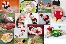 Hot infante recém-nascido da criança roupa das meninas do menino sapatos de bebê Handmade Crochet Knit traje foto fotografia Prop Outfit 0 - 6 m(China (Mainland))