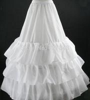 Wholesale/Retail White Wedding Gown Train Petticoat Crinoline Underskirt 3 Hoops Bridal Accessories