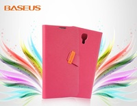 Free Shipping 1PCS Baseus Faith Series Wallet Leather Stand Case for Samsung Galaxy Mega 6.3 I9200 I9208