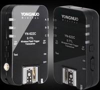 Free shipping YongNuo YN-622C YN 622 Wireless ETTL HSS 1/8000S Flash Trigger 2 Transceivers for Canon