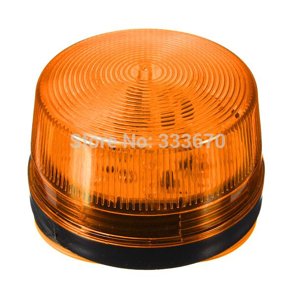 12V Security Alarm Strobe Signal Warn Warning Siren Orange LED Lamp Flashing Light Free Shipping(China (Mainland))