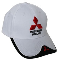 For Mitsubishi logo baseball cap car brand logo white sport golf cap casual sunhats
