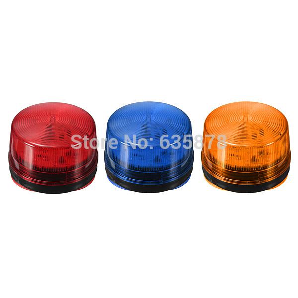 12 V Red Blue Orange LED Flash Siren Light Security Alarm Strobe Signal Warning Free Shipping(China (Mainland))
