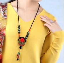 Agate cameo long necklace/bohemia tibet vintage jewelry women/collier/bijuteria/colar/bijoux/sautoir/bisuteria/jewlery/jewellery