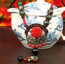 Agate cameo long necklace bohemia tibet vintage jewelry women collier bijuteria colar bijoux sautoir bisuteria jewlery
