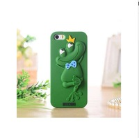 Hot sell,New arrive The pure color  with Frog model Case Cover For iPhone5 5S 5G,good gift, CP97