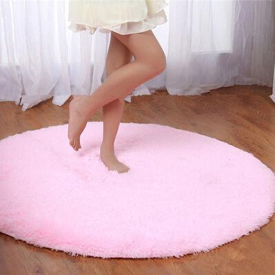 Tapete de pelúcia rodada de l? S & V Super macio e confortável A cadeira do computador almofada Yoga mat Quarto sala de estar Tapetes(China (Mainland))