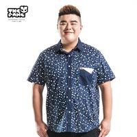 Thepang men's plus size clothing short-sleeve peaked collar shirt fashion summer thin plus size plus size casual shirt male