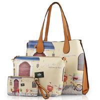 2015 new women leather handbag fresh women messenger bags fashion shoulder bags printing women handbag hot crossbody bag bolsas