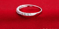 Mr Fu 925 silver ring female index group of inserted row  ring