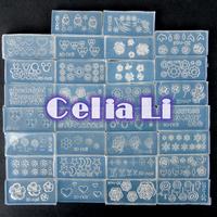 New condition 30pcs DIY Nail art Tips 3D UV GEL Acrylic Powder Silicon Mould UV nail art nail tools Set 1113 free shipping