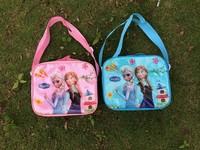 Frozen  Kids Cartoon Lunch Box Set Nylon Cartoon Lunch bag /frozen lunch bag Free shipping