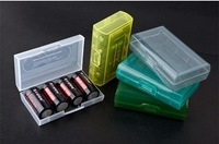 100pcs /lots Brand  new 18650 CR123A 16340 Battery Case Box Holder Storage Container free shipping cost