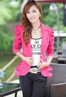 2014 autumn women's blazer slim casual top outerwear new arrival long-sleeve Women blazer  free shipping 00055