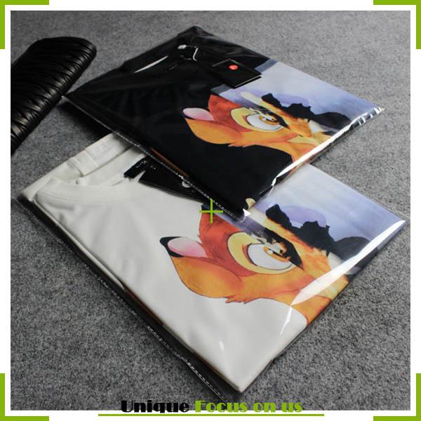 Бэмби принт футболки женщины топы лето одежда для мужчины и женщины белый влюблённые T - рубашки MC-1023