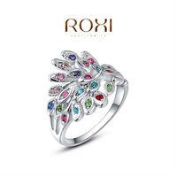 ROXI Noble Phoenix platinum plated ring ,set with AAA zircon cystal,fashion wedding Jewelry,gift ,2010009290b