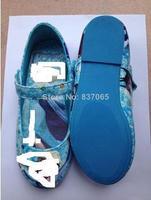 1Pair Retail Frozen Elsa Princess Shoes for Girls Size 25-30 Little Girl Frozen Shoes Blue Frozen Girl Shoes For Frozen Dresses