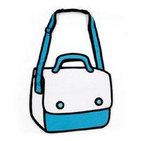 2014 New Designed Fashion 3D Jump Style Comic Handbags Women's Cartoons Shoulder Bag 2D Printed Novely Gismo Messenger Bag