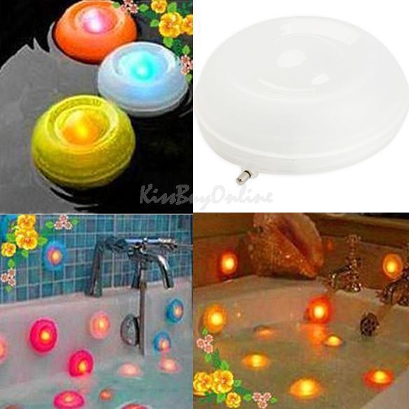 Color Changing Bath Tub Swimming Pool Floating LED Night Light Waterproof Romantic Pond Spa Hot Tub LED Night Light BHU2(China (Mainland))
