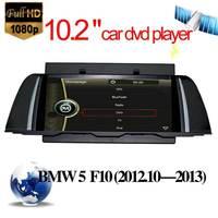 10.2 inch  car dvd Player for BMW 5 Series F10 2013 GPS Navigation Nav Stereo with Radio Bluetooth TV USB SD  Audio Video gps