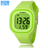 2014 New High Quality SYNOKE Children Student Sports Watches Waterproof Alarm Backlight Colorful Silicone Jelly Digital Watches