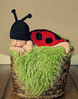 Free shipping newborn baby children girls boys child photography props Crochet Handmade wool modeling   sweater Insect 0-8M