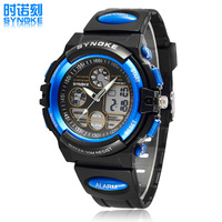 Original Men Sports Watches SYNOKE Army Watch 5ATM Dive Swim Dual Time Male Clock Mens Watches 2014 relogio masculino