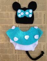 Free shipping newborn baby mouse children boys child photography props Crochet Handmade wool modeling  set 0-8M