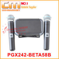 Free shipping, High quality VHF wireless microphone PGX242/BETA58(B) (VHF)