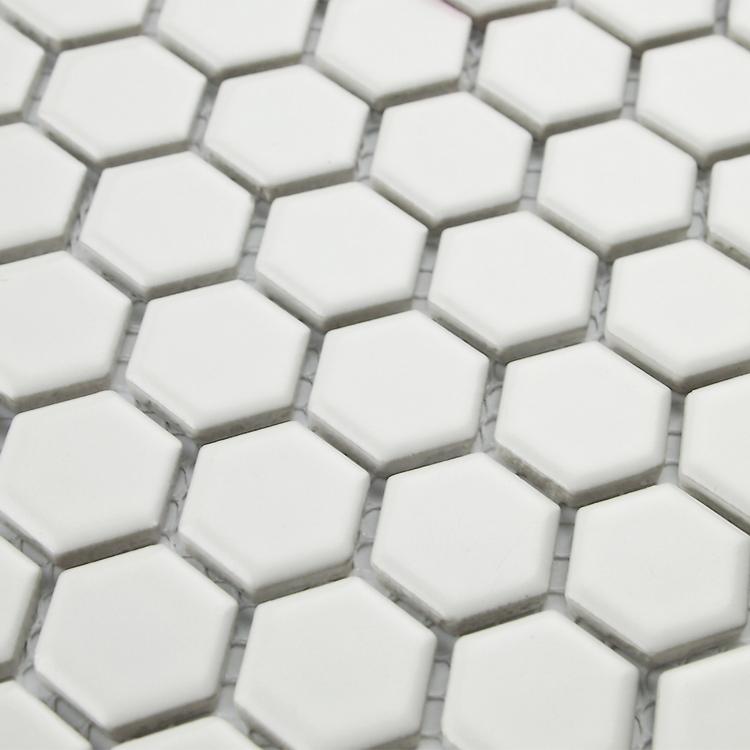 Livraison Gratuite Blanc Hexagone En C Ramique Carreaux De Mosa Que Pour Salon Salle De Bain De