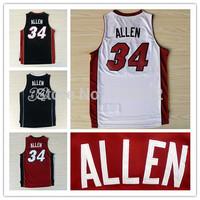 Miami 34 Ray Allen Throwback Jersey, Cheap Allen Basketball Shirt Retro Mesh Basketball Jerseys Embroidery Logo