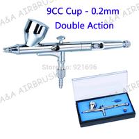 2014 high performance double action 180 Air Brush 0.2mm Hobby, Nail Art Airbrush