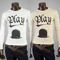 Free shipping hat of men's fashion leisure long-sleeved T-shirt printing high quality long sleeve T-shirt size M - XL
