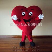 2014 adult size Halloween Christmas Dress Red Heart  Mascot Costume Fancy Dress Hot Sale