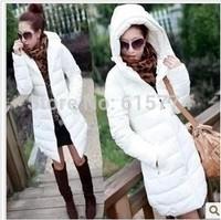 women's cotton-padded jacket slim PU down cotton-padded jacket female medium-long wadded jacket winter thickening outerwear