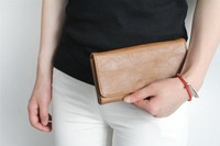 Ladies wallet 2014 new Europe and the United States concise long brown wallet big-name foreign trade
