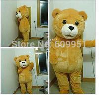 2014 adult size Halloween Christmas cool yellow fat bear  Mascot Costume Fancy Dress Hot Sale