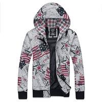 2014 autumn winter fashion simple men's graffiti  Hip hop Streetwear hooded cotton sport  Sweatshirts Y0329