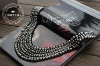 Warfactory beading cravat false collar clothes collar accessories black