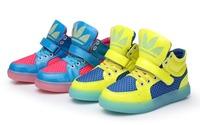 2014 Spring New  Running Children Boots Super Luminous Boys / Girls Children Shoes Kids Sneakers